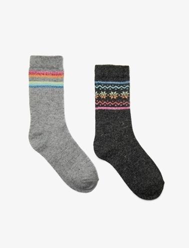 Koton 2'li Çorap Gri